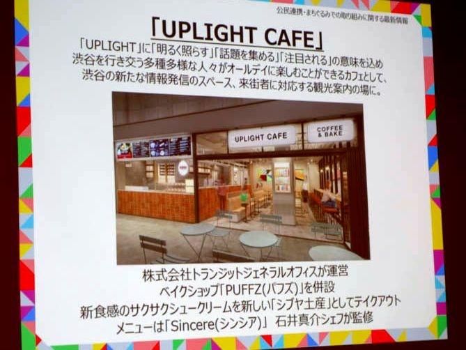 地下広場のUPLIGHT CAFE