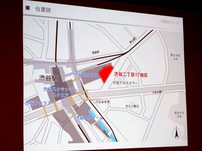 渋谷二丁目17地区の位置。正直、この周辺に住んでいる・働いている人以外にとっては何もない地域である