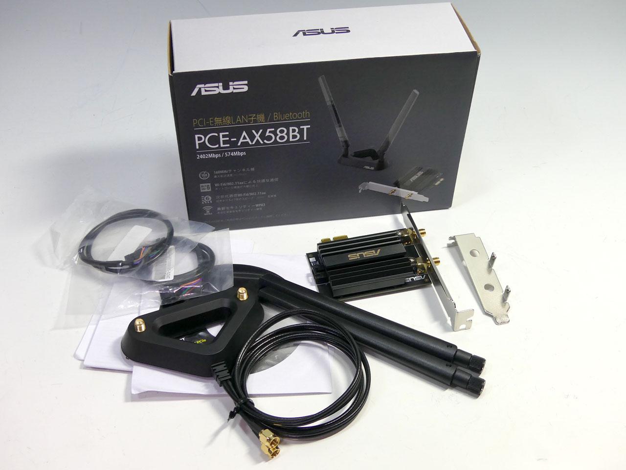 ASUSから発売されたPCIe x1接続のWi-Fi 6アダプタ「PCE-AX58BT」