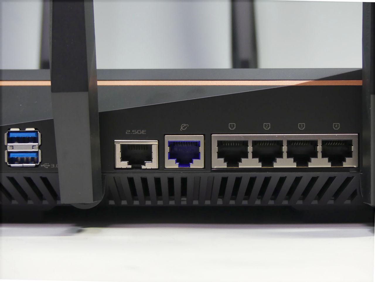 2.5Gbps対応の有線LANポートも搭載する