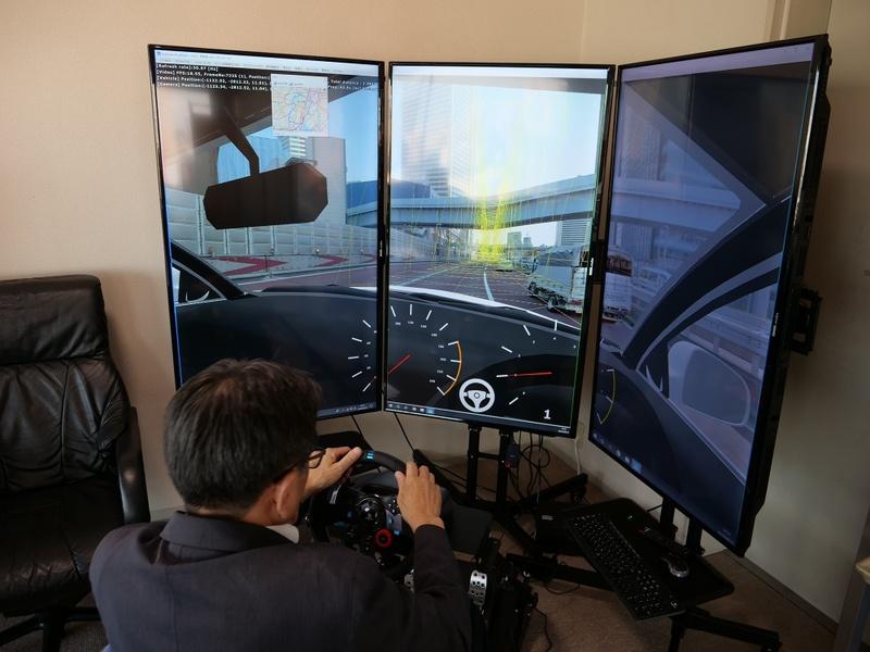 CV技術を使ったドライビングシミュレーター
