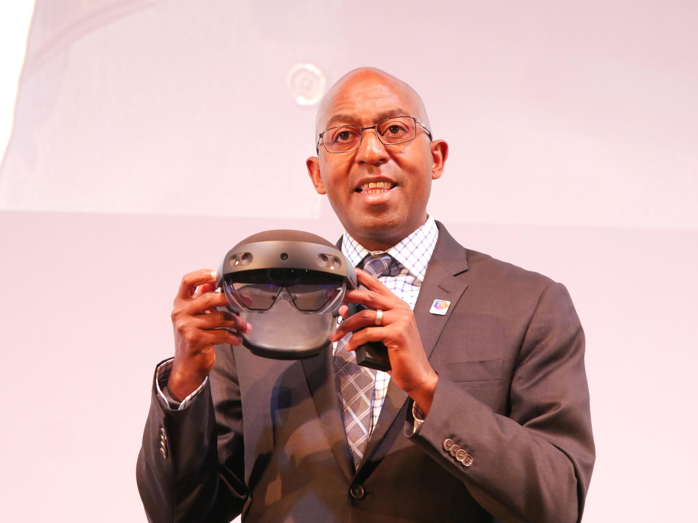 米マイクロソフトのIoT and Mixed Reality Sales担当Rodney Clark(ロドニー・クラーク)バイスプレジデント