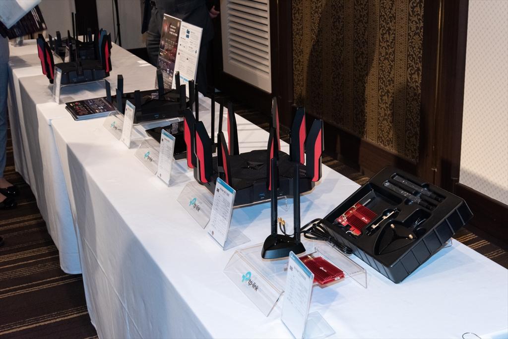 発表会の会場には、従来モデルも含めた展示を用意