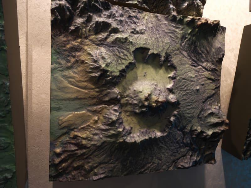 「ブラタモリ」に提供された阿蘇山の立体地図