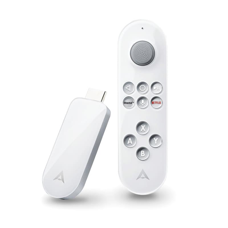 "CCC AIR株式会社が発売した「Air Stick 4K Joystick edition」。価格は1万2800円(税別)。同製品についての詳細は、「AV Watch」の記事<a href=""https://av.watch.impress.co.jp/docs/news/1220148.html"" class=""strong bn"" target=""_blank"">『ジョイスティックリモコン付属のAndroid TV端末「Air Stick 4K Joystick edition」』</a>を参照してほしい"