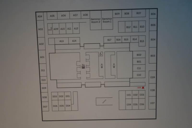 会議室のあるフロアのマップ。これ、かなり慣れないとどこがどこか分からなくなると思う……