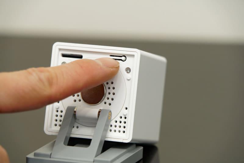 底面にあるSETUPボタンを音が聞こえるまで押し続ける