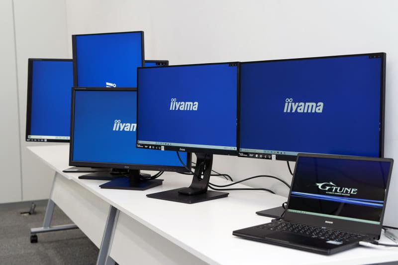 マウスコンピューターはiiyamaブランドでディスプレイを製造・販売している