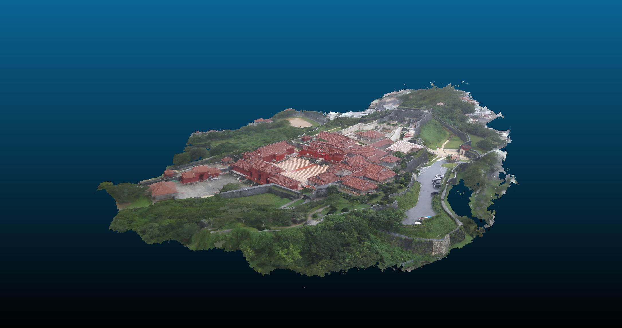 首里城の立体モデル