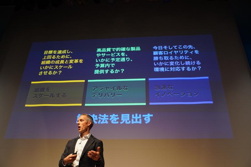 共通する課題「組織をスケールする」「アジャイルなデリバリー」「急速なイノベーション」