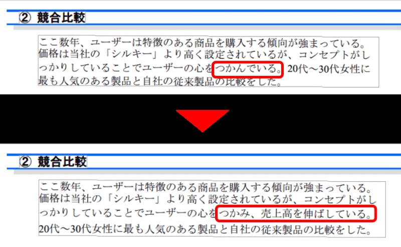 高度編集の機能の1つ。PDFファイルの文字を編集できる