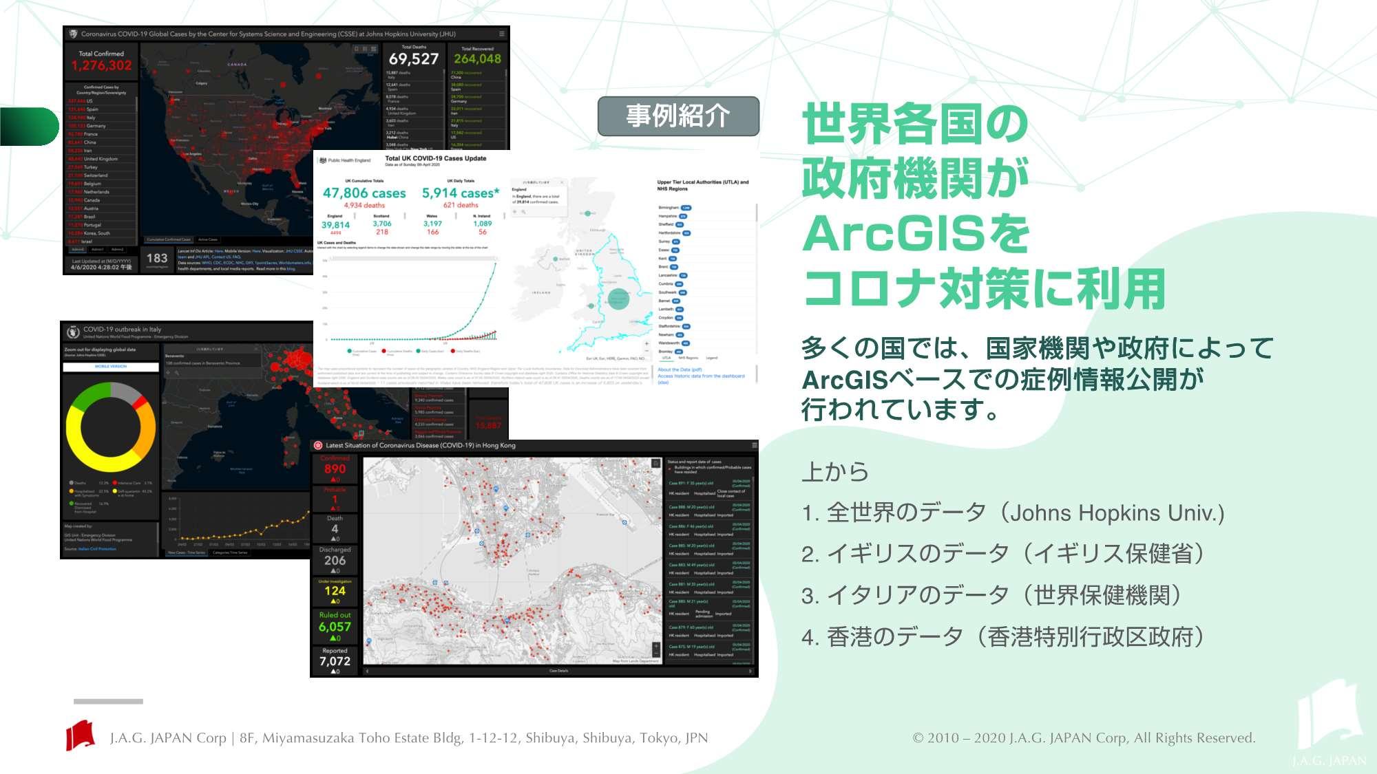 世界各国の政府機関が「ArcGIS」を使った新型コロナウイルス対策サイトを公開