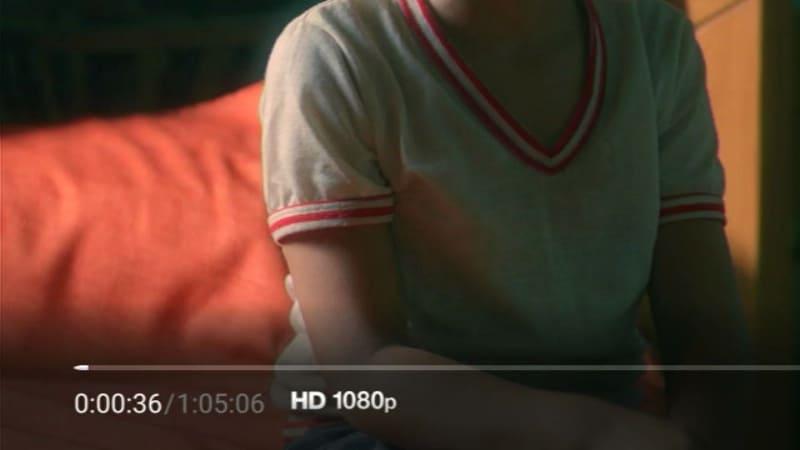 フルHDでの再生時には「HD 1080p」と表示される