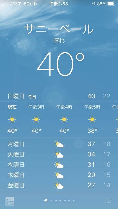 最も暑いときは40度を超えた。こうなるとエアコン無しで屋内にはとてもいられない