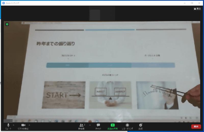 WebカメラとZoomを通した段階で、映像がかなりボケてしまった。