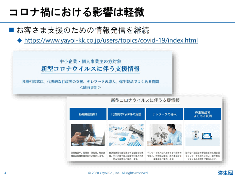 """<a href=""""https://www.yayoi-kk.co.jp/users/topics/covid-19/"""" class=""""strong bn"""" target=""""_blank"""">コロナ関係の支援情報サイト</a>を開設"""