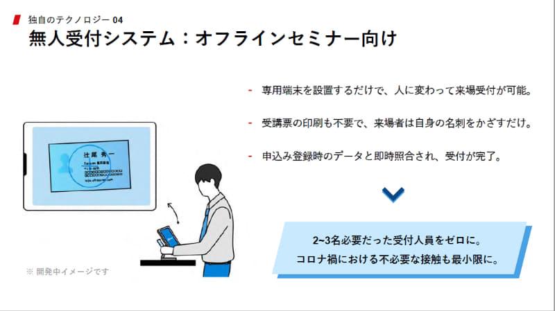 無人受付システム:オフラインセミナー向け
