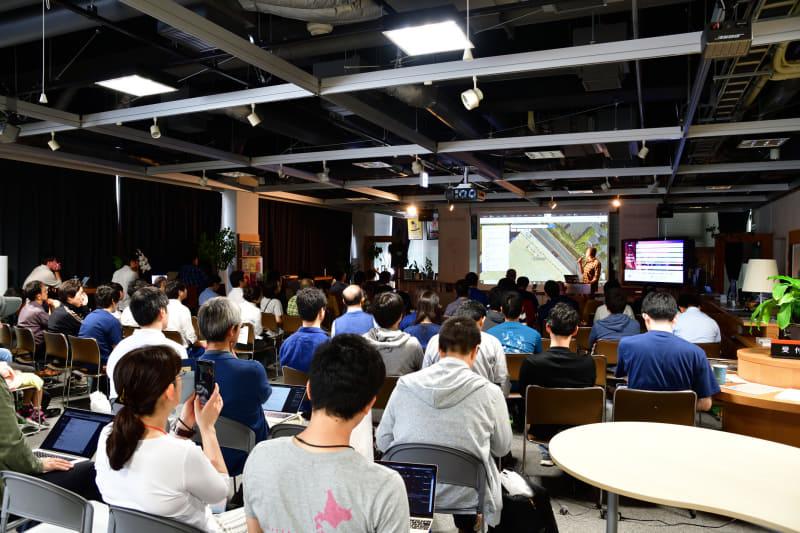 株式会社MIERUNEの札幌オフィスが入る「インタークロス・クリエイティブ・センター(ICC)」で開催された「FOSS4G Hokkaido 2019」