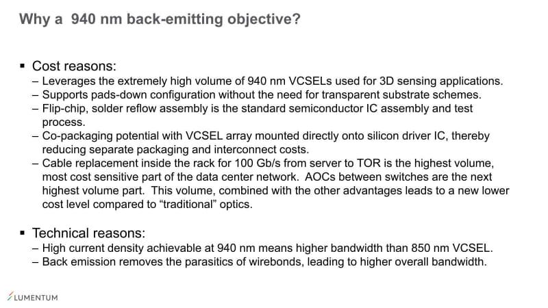 こちらは主に光源となる素子からの提案。940nmの「VCSEL(Vertical Cavity Surface Emitting LASER)」、つまり垂直共振器面発光レーザーが安価なことが最大の選択理由だ