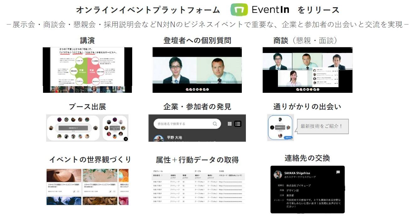 新サービス オンラインイベントプラットフォーム「EventIn」