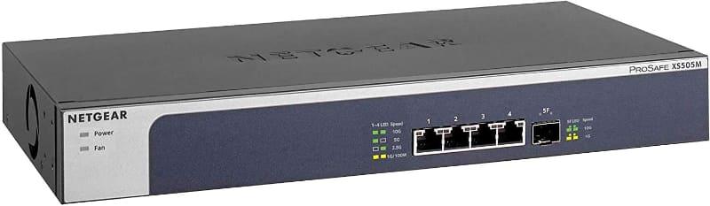 10G 5ポート(10GBASE-T×4、SFP+×1)アンマネージスイッチ「XS505M-100AJS」