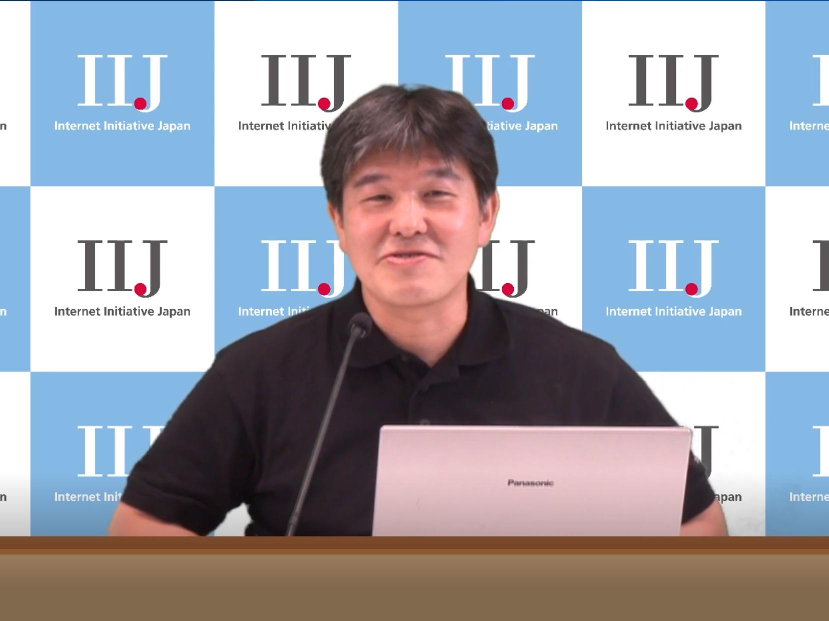 IIJの基盤エンジニアリング本部 運用技術部 技術開発課の松崎吉伸氏
