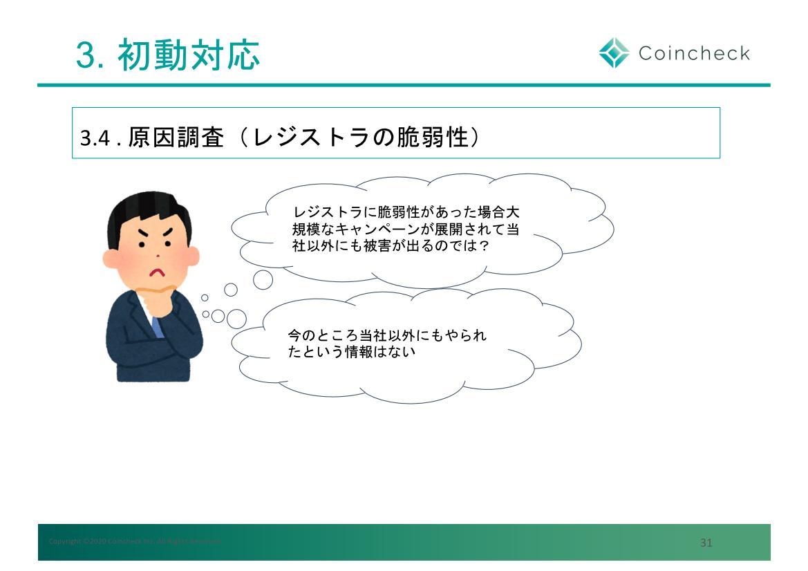 レジストラの脆弱性は当初想定していなかったが、実際はレジストラの脆弱性が原因だった(bitcoinbank.co.jpも書き換え被害に遭っていた)