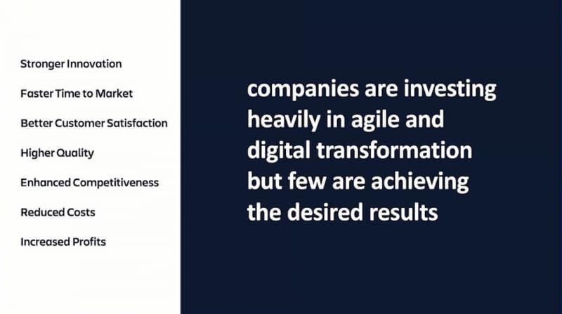アジャイル化やDXのためのIT投資をしている企業の多くは目標を達成できていない