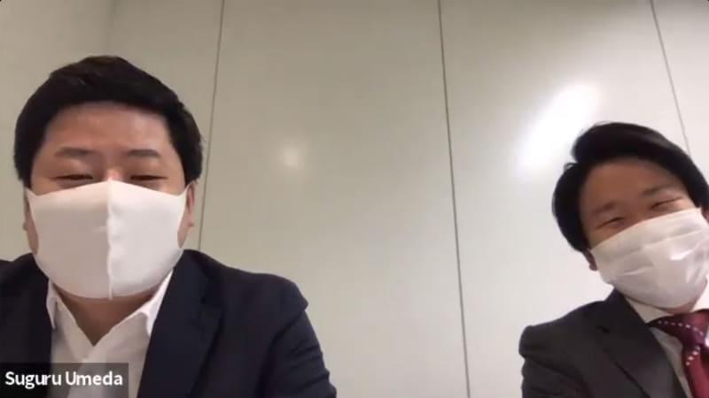 avatarin株式会社代表取締役CEOの深堀昂氏(左)と埋田卓氏(右)