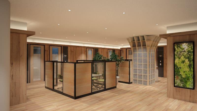 長野県産材を使用し、自然豊かな長野をイメージした内装デザイン