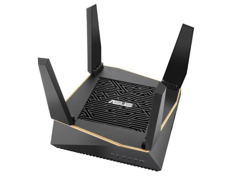 """最大4804Mbpsと同867Mbpsの5GHz帯、同400Mbpsの2.4GHz帯のトライバンドに対応するWi-Fi 6ルーター「<a href=""""https://www.asus.com/jp/Networking/RT-AX92U/"""" class=""""strong bn"""" target=""""_blank"""">RT-AX92U</a>」"""