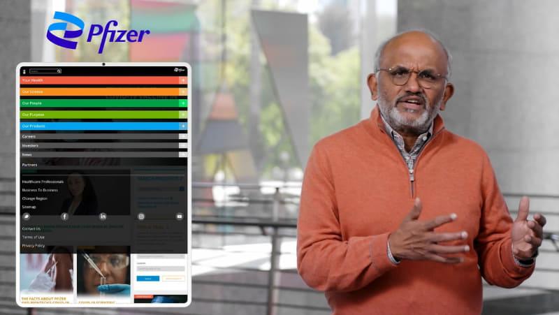 基調講演で講演する米Adobe CEOのシャンタヌ・ナラヤン氏