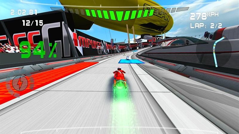 無重力爆速レースゲームの「Impulse GP」。けっこう病みつきになる (C) EcoTorque Systems Inc.