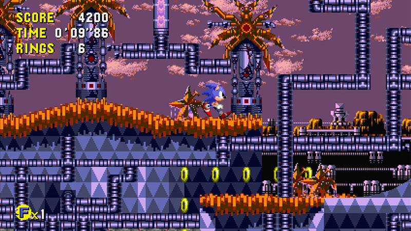 横スクロールの名作アクションゲーム「ソニック CD」 (C)SEGA