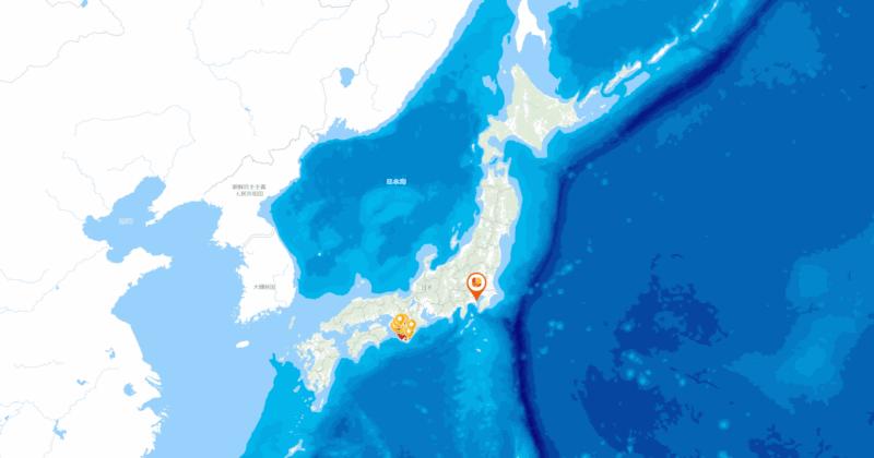 「Geolonia Maps」で配信される地図の例
