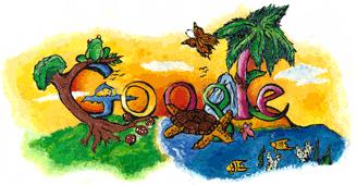オーストラリアで行った「Doodle 4 Google」のグランプリ作品