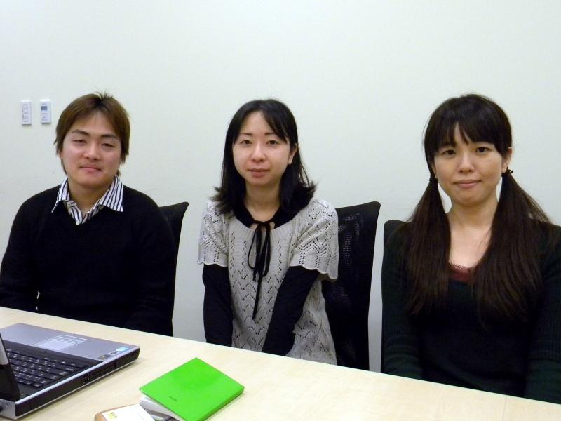 (左から)ヤフーR&D統括本部ソーシャルネット開発部の袋谷連平氏、片山玲文氏、竹内美尋氏