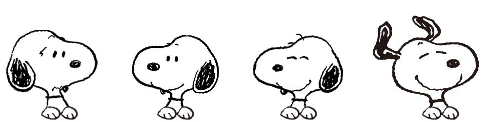 スヌーピーの表情イメージ