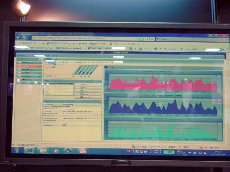 「Dynamic Data Center Toolkit」を利用した管理ツールの画面