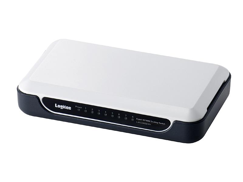 LAN-SW/PHシリーズの8ポートモデル「LAN-SW08/PH」