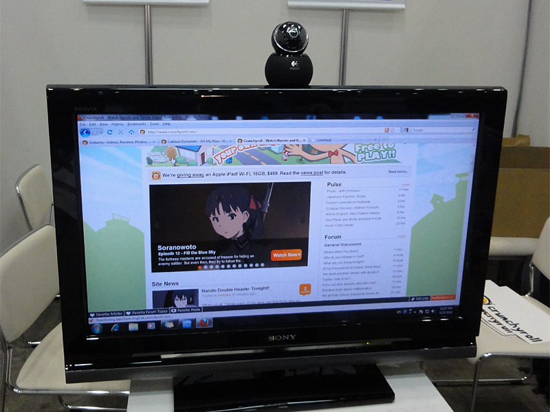 Crunchyrollのサービス画面