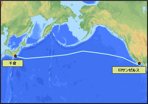 太平洋を横断する新海底ケーブル「Unity」のネットワーク概念図