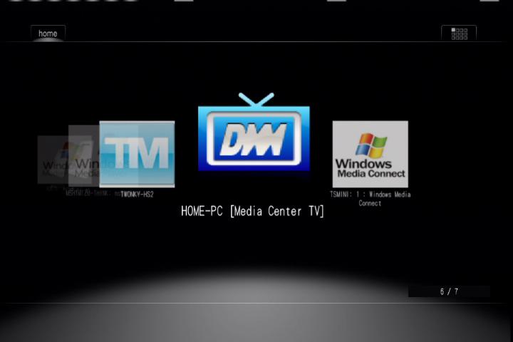 DiXiMやTwonky、WMCなど、多彩なサーバーに接続可能。DTCP-IPにも対応しているため、レコーダーなどで録画した映像も再生できる