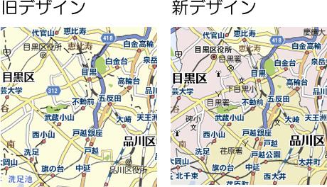 市区町村の色塗り分け表示の例