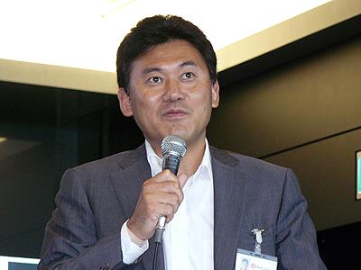 楽天の三木谷浩史代表取締役会長兼社長