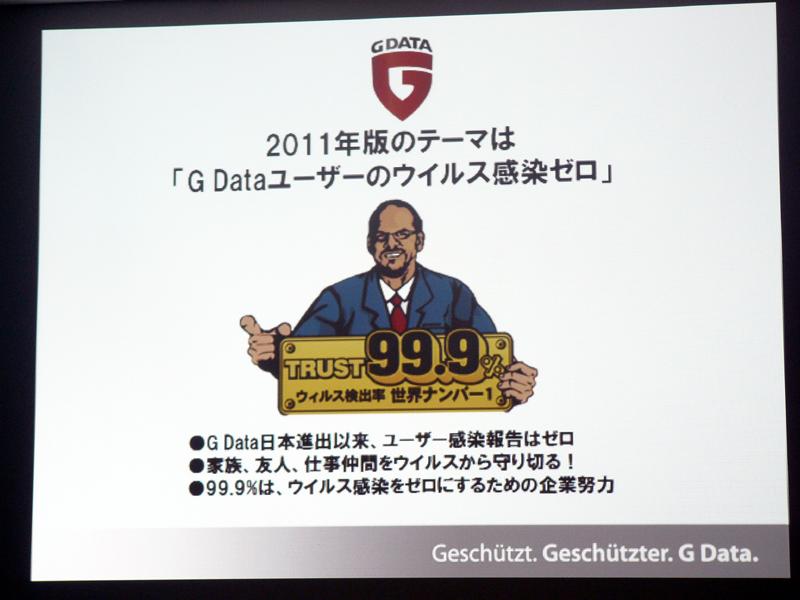 日本市場では、独G Data Softwareのディルク・ホーフストラーテCTOをアメコミ風に描いたキャラクターを投入する