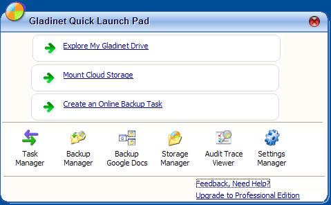 「Gladinet Cloud Desktop」