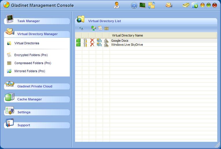「Gladinet Quick Launch Pad」から「Storage Manager」を起動するとにマウントを解除できる
