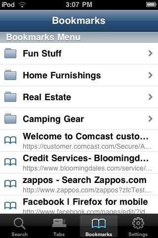 「Firefox Home」の画面