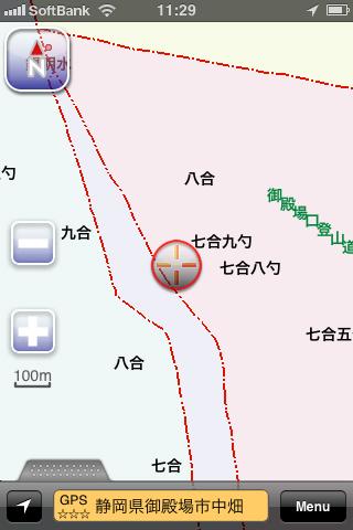 富士山・御殿場口登山道付近